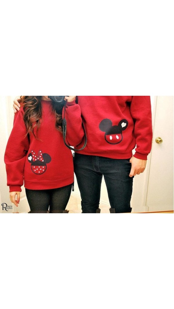 red sweater minnie mouse minnie and mickey mickey mouse matching couples sweater red mickey mouse sweater minie mouse