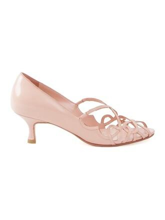 strappy women pumps purple pink shoes