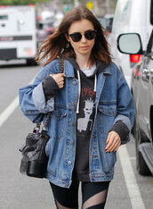 bag,chanel,jacket,chanel gabrielle hobo bag,chanel bag,sunglasses,lily collins