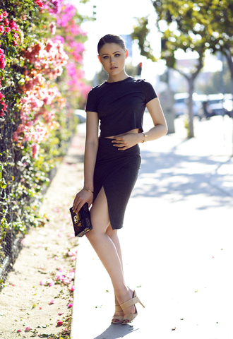 kayture blogger skirt top t-shirt shoes bag