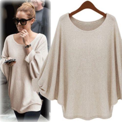 Fashion european style loose bat sleeve sweater: dressyours.com