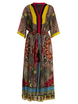 dress silk dress print silk black