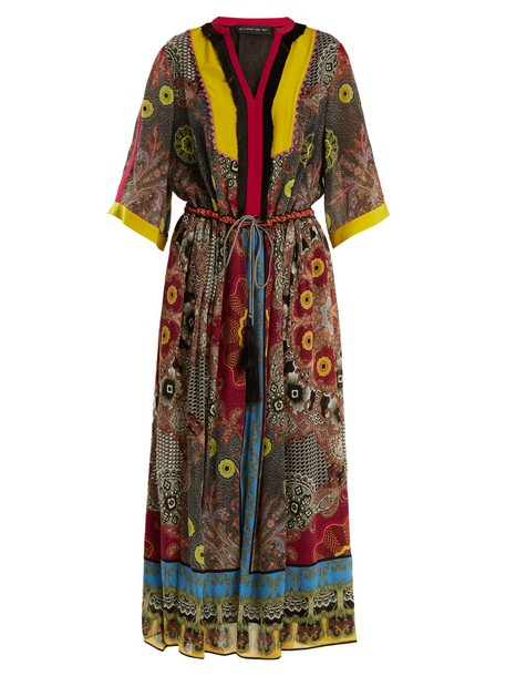 ETRO dress silk dress print silk black