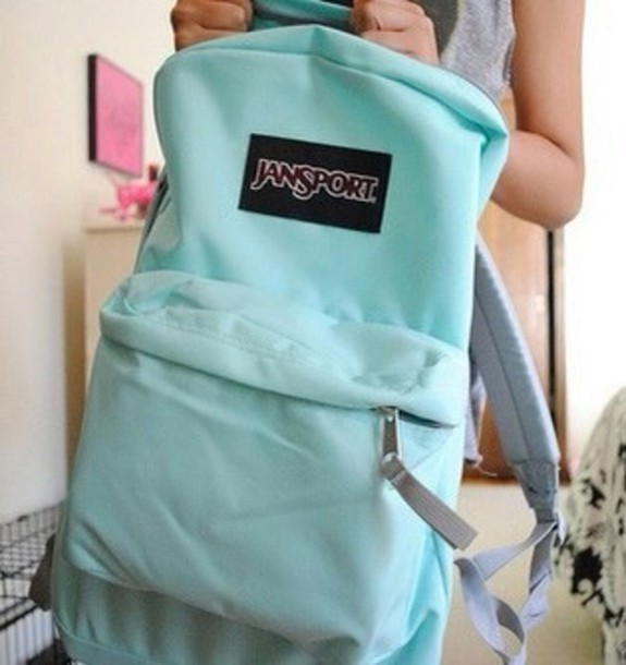 Bag: mint, backpack, mint, jansport - Wheretoget