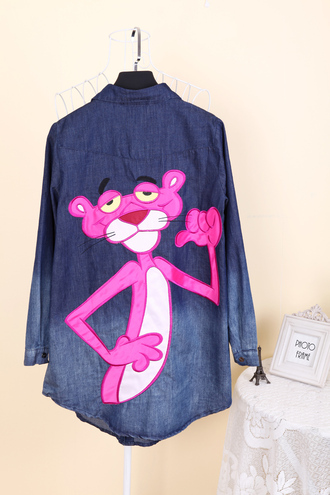 shirt denim shirt tigger blouse jeans shirt