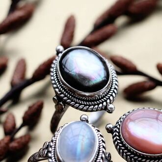 jewels shop dixi sterling silver black pearl boho bohemian grunge goth witchy
