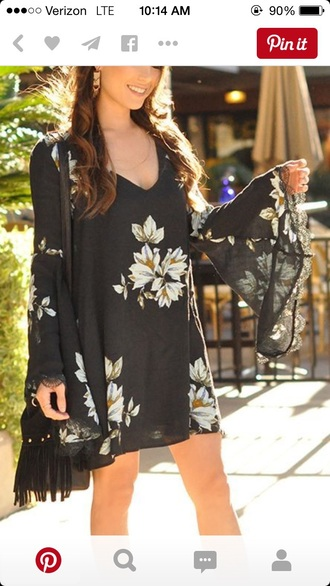 dress boho dress floral dress