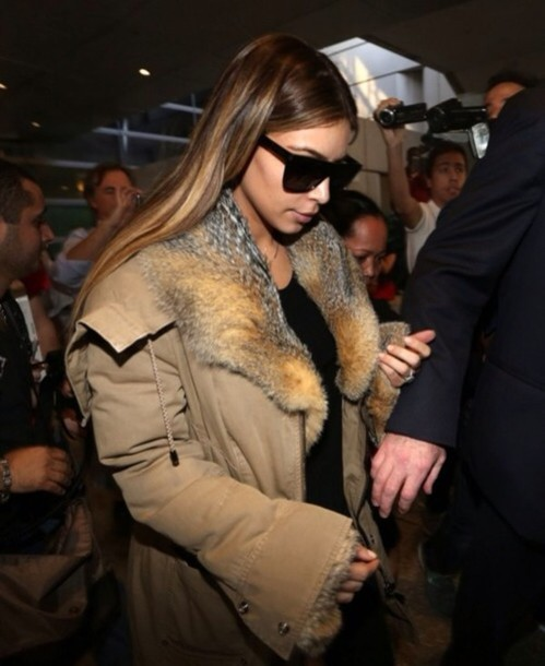 coat fur kim