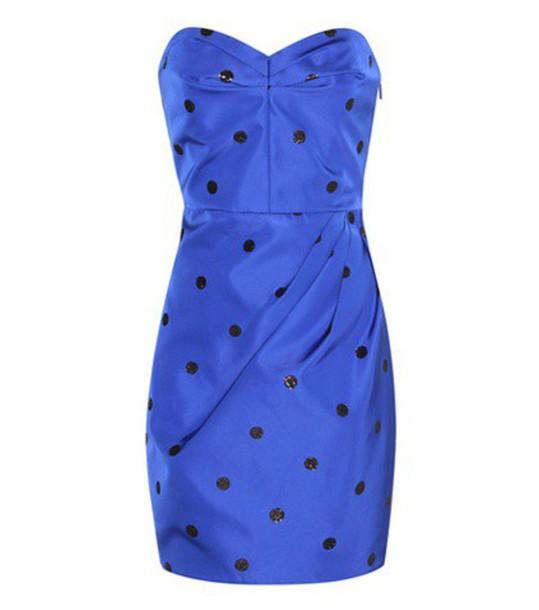 dress mini dress mini embellished silk blue