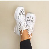 shoes,nike,white,air max,nike air max thea,sneakers,cut-out,shapes,swoosh