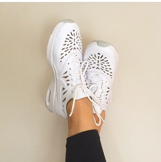 shoes nike white air max nike air max thea sneakers cut-out shapes swoosh