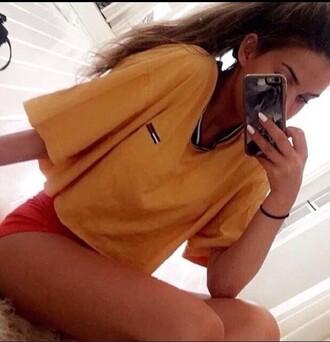 shirt tommy hilfiger shirt yellow ryan newman