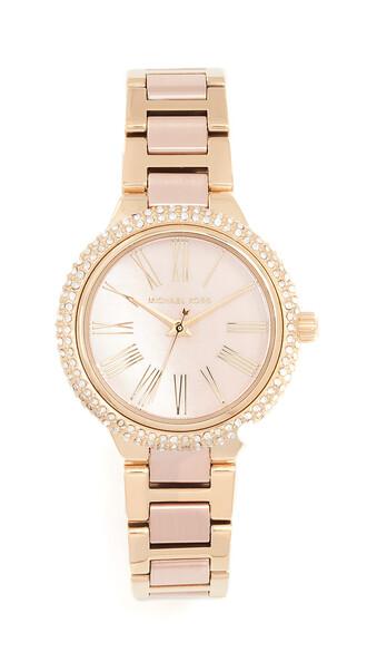 mini watch gold blush jewels