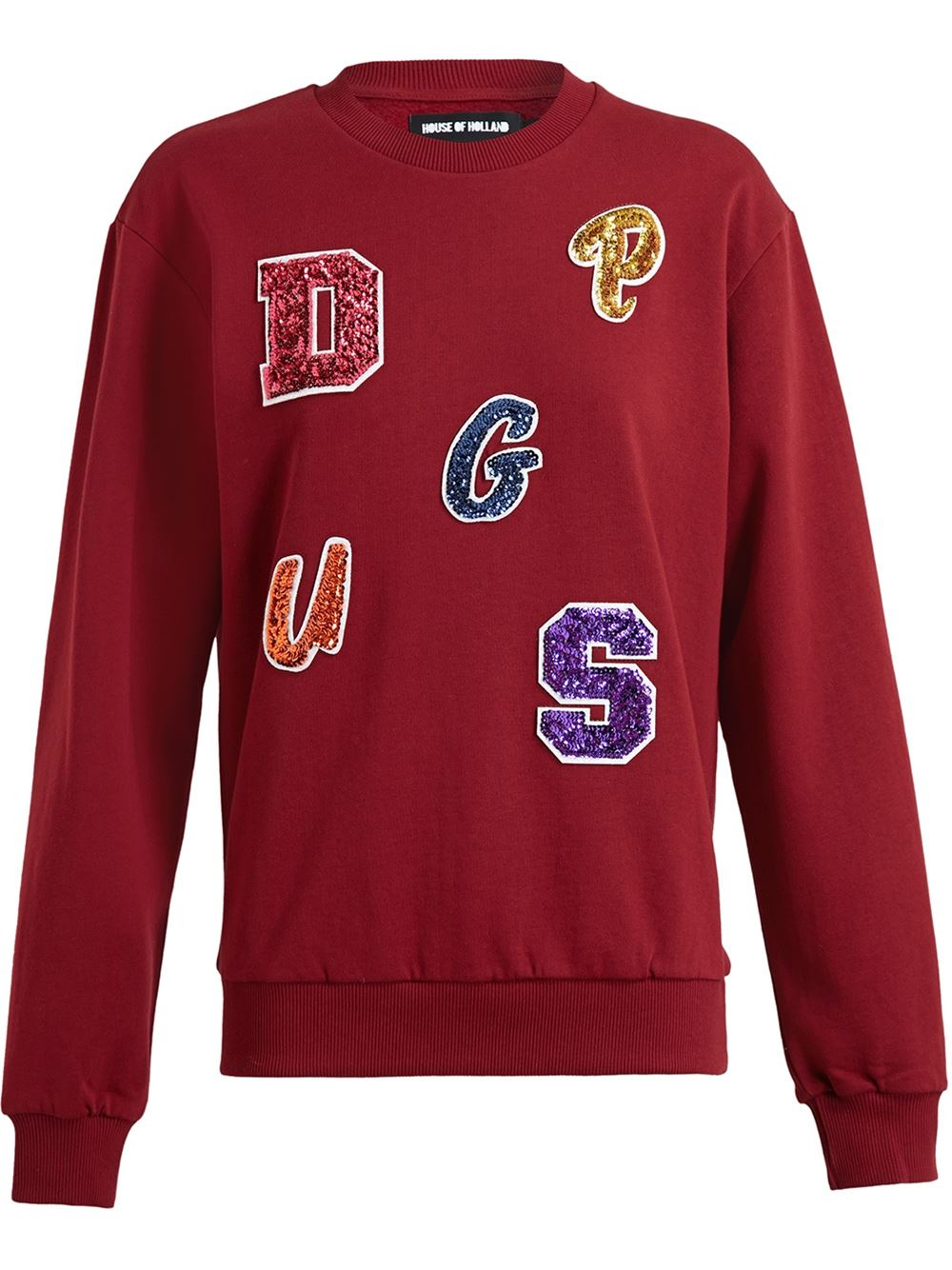 House of holland lettered sweatshirt