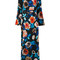 Msgm - floral maxi dress - women - polyester/spandex/elastane/viscose - 44, black, polyester/spandex/elastane/viscose