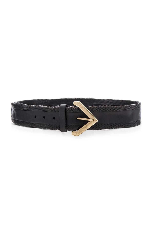 Linea Pelle Vintage Crosshatch Hip Belt in black