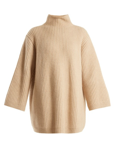 KHAITE sweater high knit beige