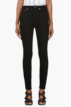 BLK DNM Black High Waist Skinny Jeans for women | SSENSE