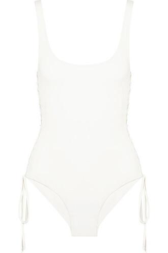 lace white off-white swimwear