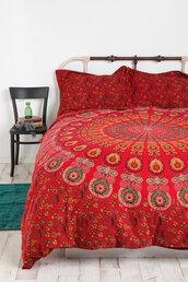 scarf,bedding,red,pattern,circle
