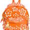 Moschino mini flower power backpack, yellow/orange, leather