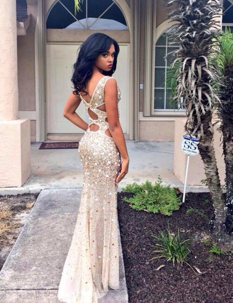 dress, necklace, prom dress, long dress, long prom dress, big ...