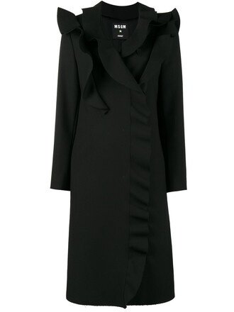 coat women spandex black