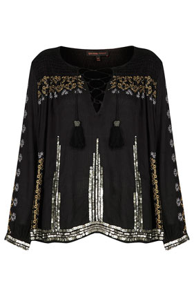 **Embroidered Smock Blouse by Kate Moss for Topshop - Topshop