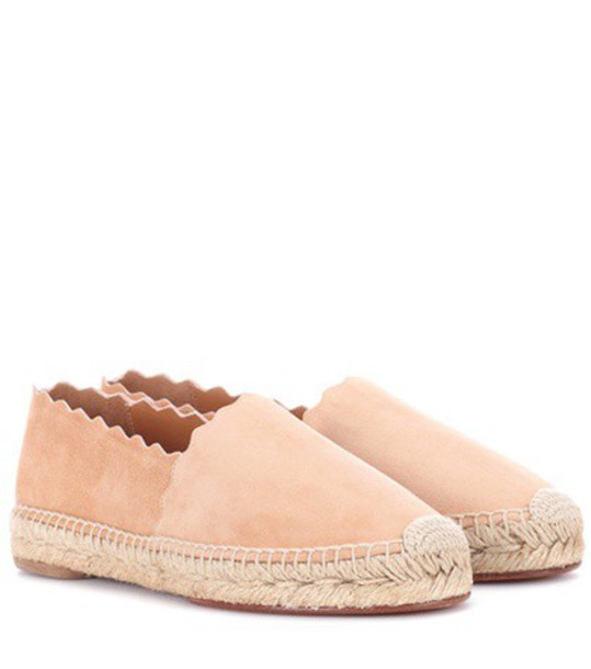 Chloe espadrilles suede pink shoes