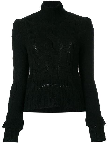 A.F.VANDEVORST jumper high women high neck black knit sweater