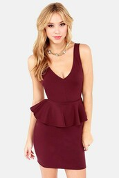 dress,burgundy,burgundy dress,peplum,peplum dress,bodycon,bodycon dress,party dress,sexy party dresses,sexy,sexy dress,party outfits,sexy outfit,summer dress,summer outfits,spring dress,spring outfits,fall dress,fall outfits,winter dress,winter outfits,classy dress,elegant dress,cocktail dress,new year's eve,cute dress,girly dress,date outfit,birthday dress,clubwear,club dress,graduation dress,prom dress,homecoming,homeocming dress,homecoming dress,wedding clothes,wedding guest,engagement party dress,romantic dress