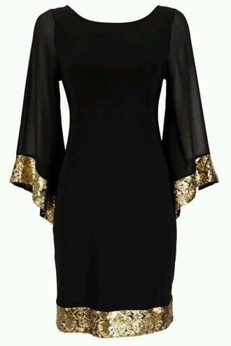 dress sparkles sparkle sleeves sparkle lining gold sparkle