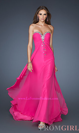 Shop prom dresses, plus size prom dresses, and prom shoes at Prom Girl   : Long Strapless Sweetheart Formal Gown