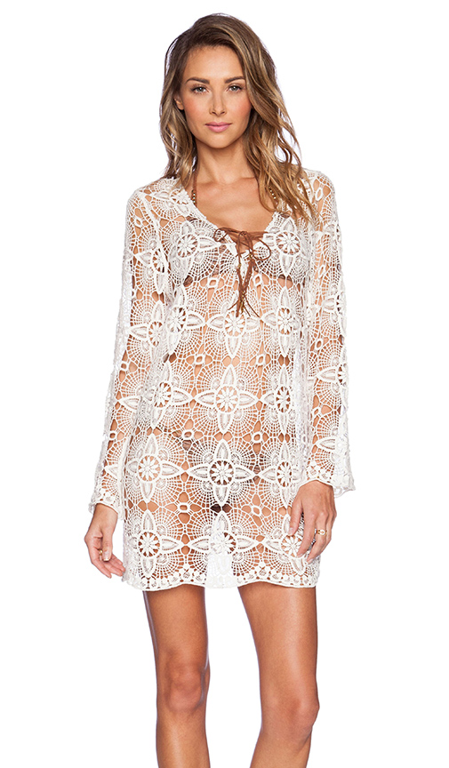 Ale by alessandra copper canyon lace tunic in natural from revolveclothing.com