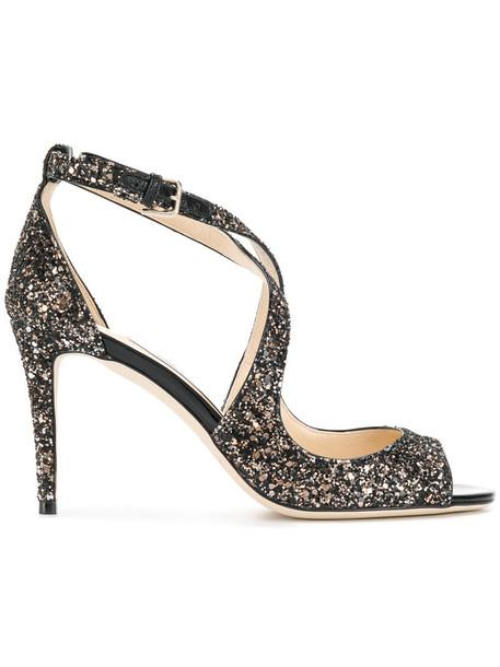 Jimmy Choo women sandals leather black shoes
