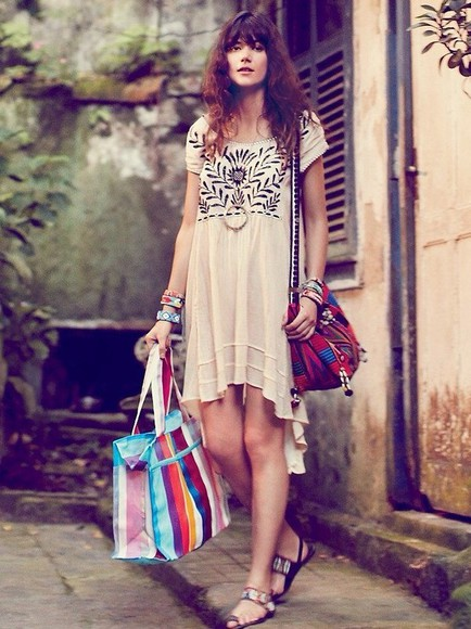 dress boho boho style boho dress embroidered