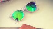 sunglasses,green mirrored,retro sunglasses