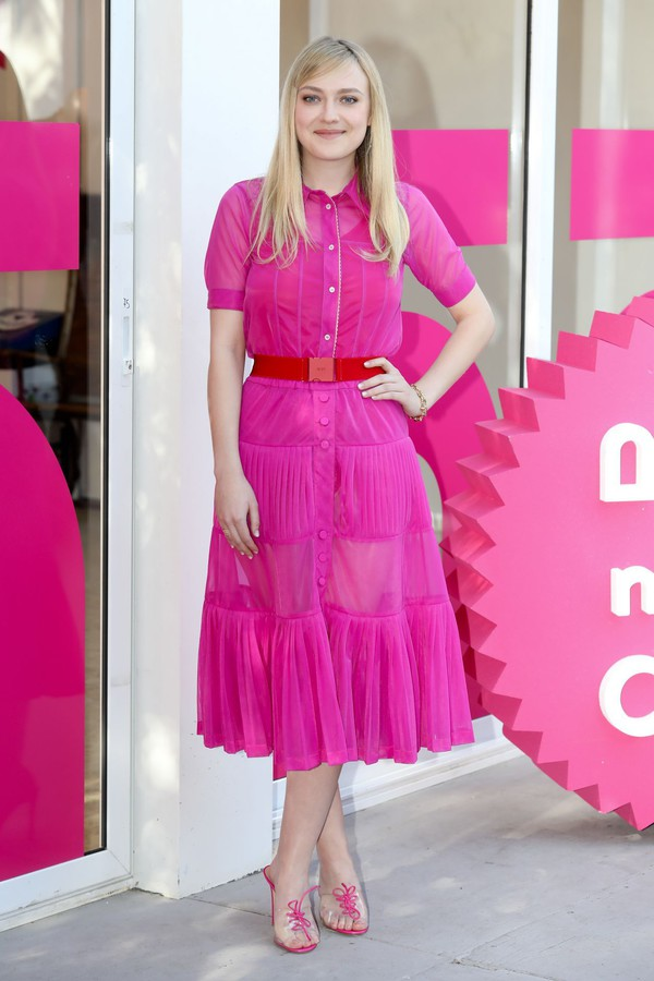 dress pink pink dress dakota fanning midi dress mules skirt shirt two piece dress set