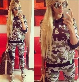 Camo skull swag sweatshirt & pant set/tracksuit from tumblr fashion on storenvy