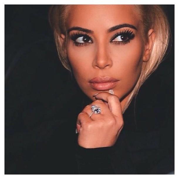 make-up kim kardashian jacket jumpsuit jewels shoes
