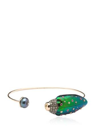 pearl gold multicolor jewels