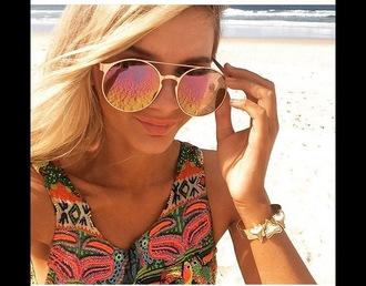 sunglasses rose gold sunglasses gold round sunglasses mirrored sunglasses