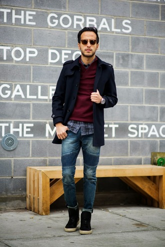 the metro man blogger menswear mens coat mens jeans coat sweater shirt jeans shoes mens skinny jeans mens high top sneakers