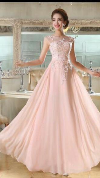 dress prom rose