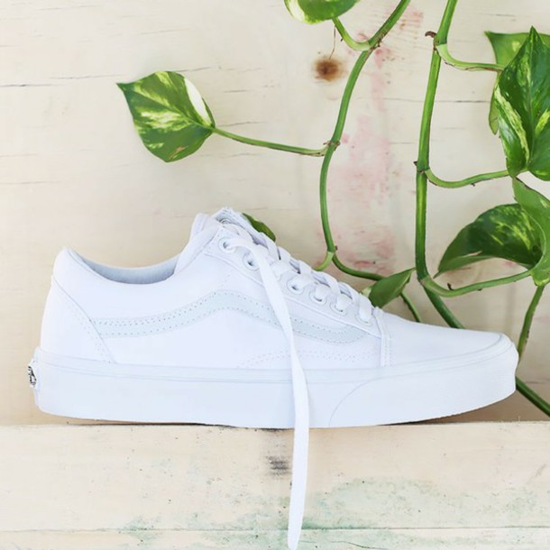 vans shoes white women