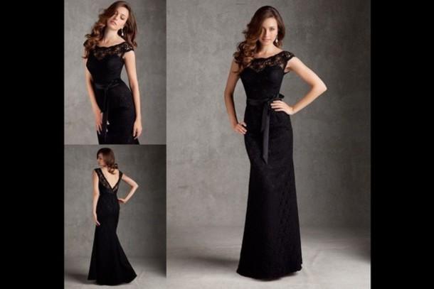 Dress Prom Dress Long Prom Dress Black Little Black Dress Black