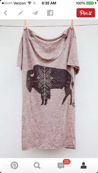 t-shirt distressed aztec lavender light purple buffalo indie rustic comfy