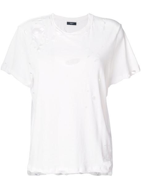 Amiri t-shirt shirt t-shirt women white cotton top