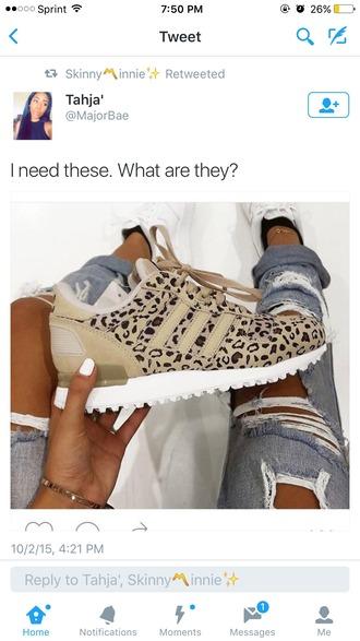 shoes adidas leopard print