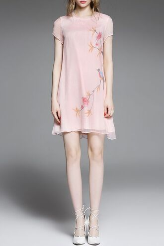 dress dezzal pastel trendy cool cute dress boho chic formal dress pink dress mini dress